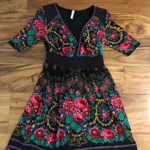 Free People Stunning Vibrant Color Sweater Dress